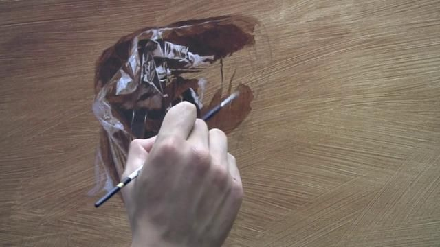 "Process- the painting of ""Plastic"""