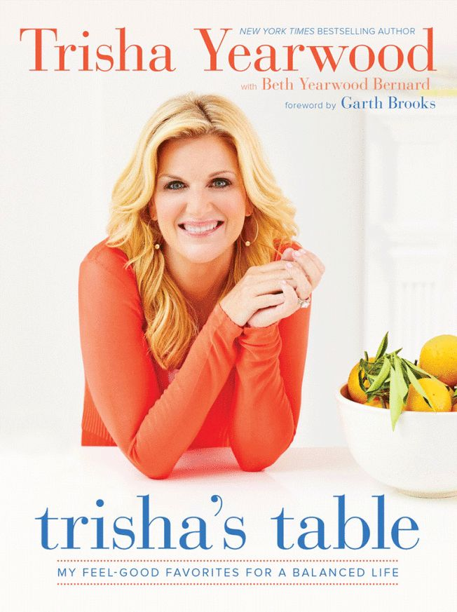 LMW: See the sweet potato-garbanzo bean burgers.  In her new cookbook Trisha's Table, country superstar and Food Network host Trisha Yearwood shares a collection of wholesome recipes she cooks at home that afford her and her family a balanced lifestyle without sacrificing flavor.