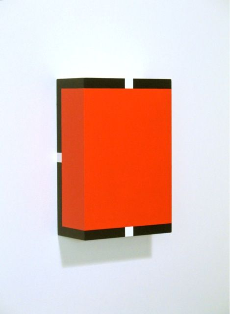 On the Double 2013 acrylic paint on birch plywood panel 12 x 8 x 4 inches