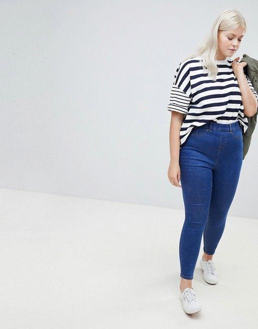 c1803e3c94ad7e New Look Curve skinny jegging in blue in 2019 | Fashion | Fashion ...