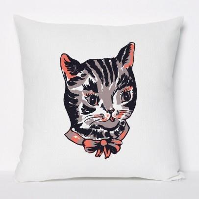 cat pillow by Domestic: Xx Cat, Cat Rules, Cat Items, Cat Pillows, Cat Ladies, Cat Parties
