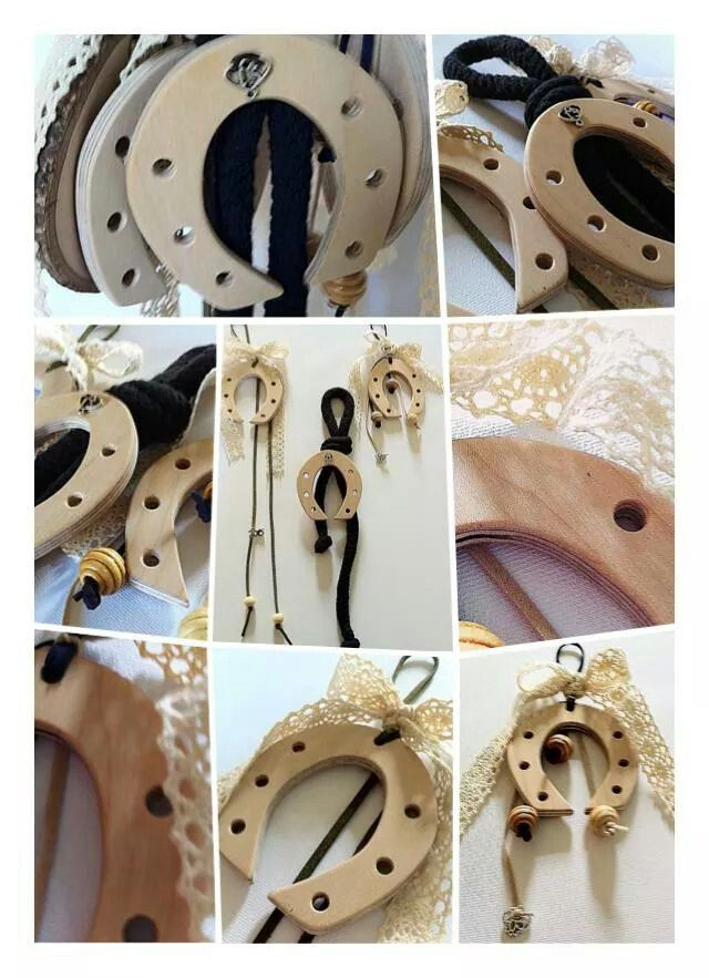 Handmade Lucky Charms Horseshoes by KIKOmania Χειροποίητα ξύλινα γουρια