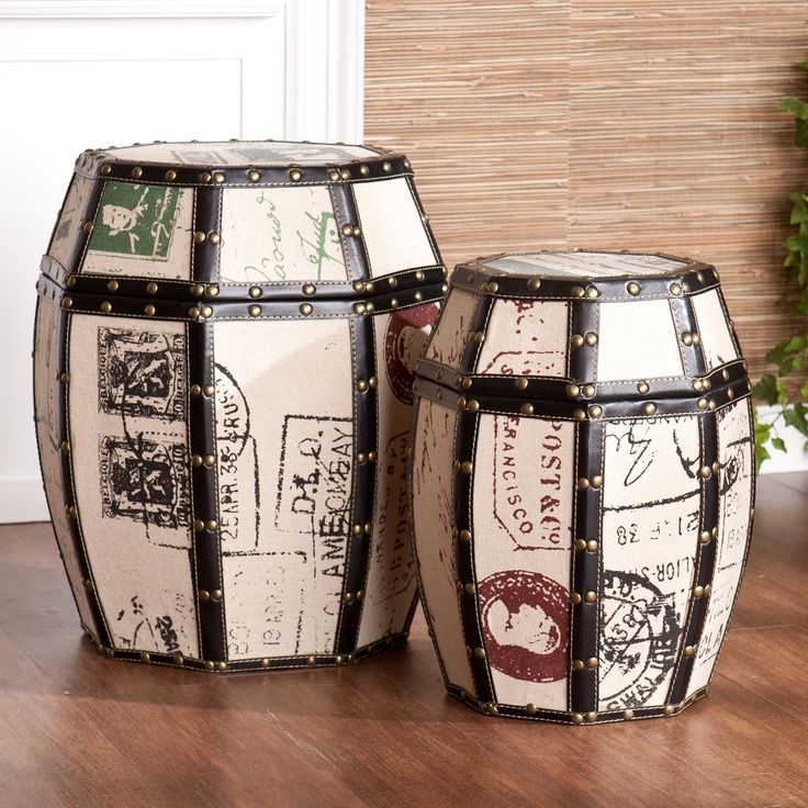 Paris Storage Drum Set | Overstock.com Shopping   The Best Deals On  Decorative Trunks