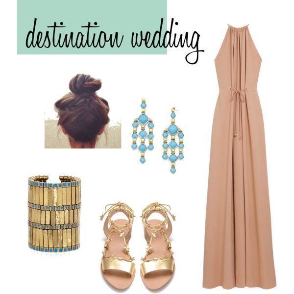 A Fashion Look From May 2012 Featuring Mulberry Gowns Loeffler Randall Sandals And Aurelie Bidermann Bracelets
