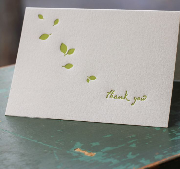 14 best letterpress thank you notes images on pinterest