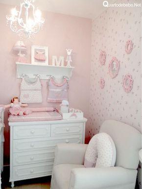 Papel parede rosa molduras provençal