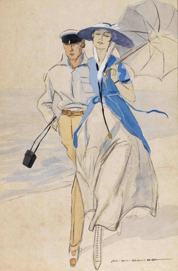 Marcello Dudovich    In spiaggia, 1920    Mart, Deposito Tomatis/Vegro www.mart.tn.it/andataericordo