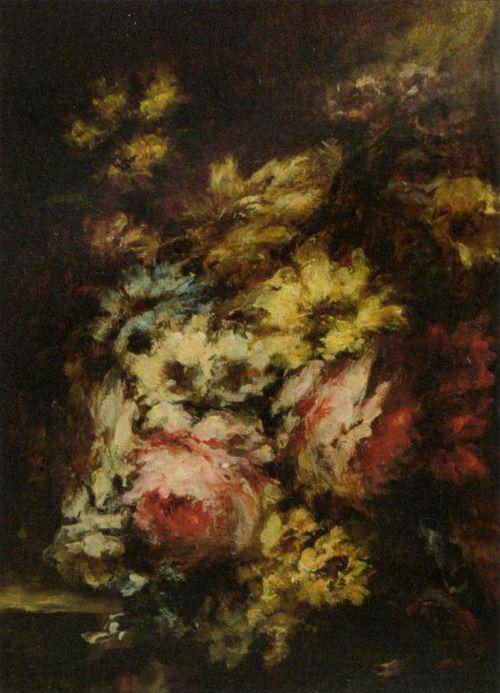 'Bouquet de Fleurs' - Narcisse Virgilio Diaz de la Peña.