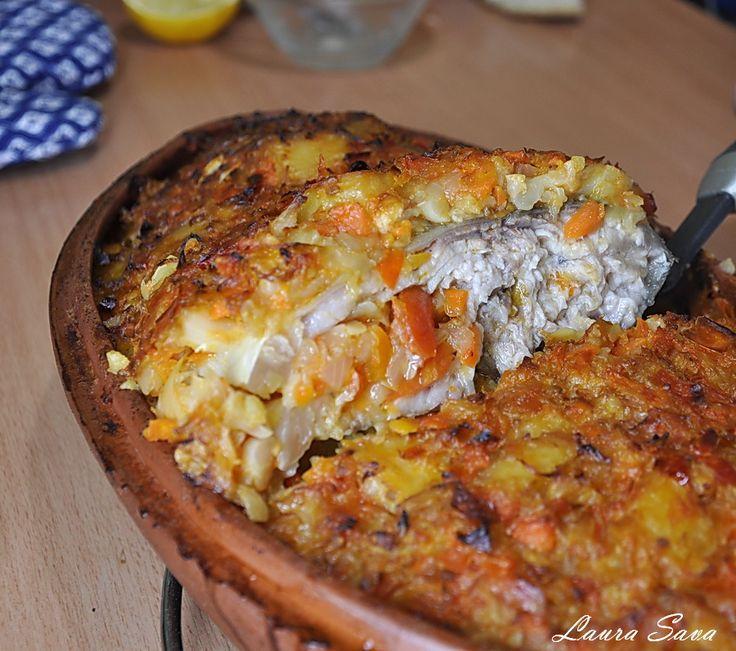 Crap cu ghiveci de legume la cuptor | Retete culinare cu Laura Sava