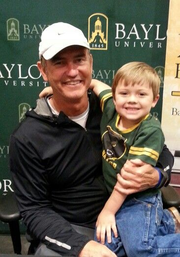 #SicEm #Baylor #futureBear #BaylorEverywhere. My Aiden loves Coach Art Briles!!!: Coach Art