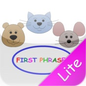 First Phrases - for children learning how to put two-three words together or any child who is learning basic English phrases. It provides many opportunities to both hear (receptive), see, and say/record (expressive) 10 different verb + noun combinations