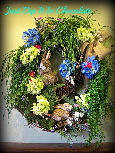Just Dip It In Chocolate: Rabbit Burrow Spring Wreath