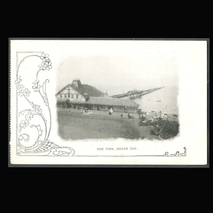 The Pier, Herne Bay, Kent, UK Vintage Postcard by COINSnCARDS on Etsy