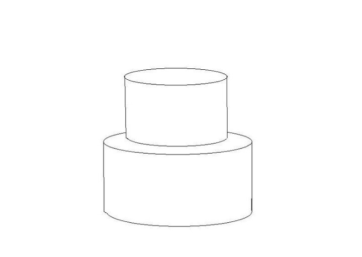 2 tier cake template Templates Pinterest 2 tier cake ...