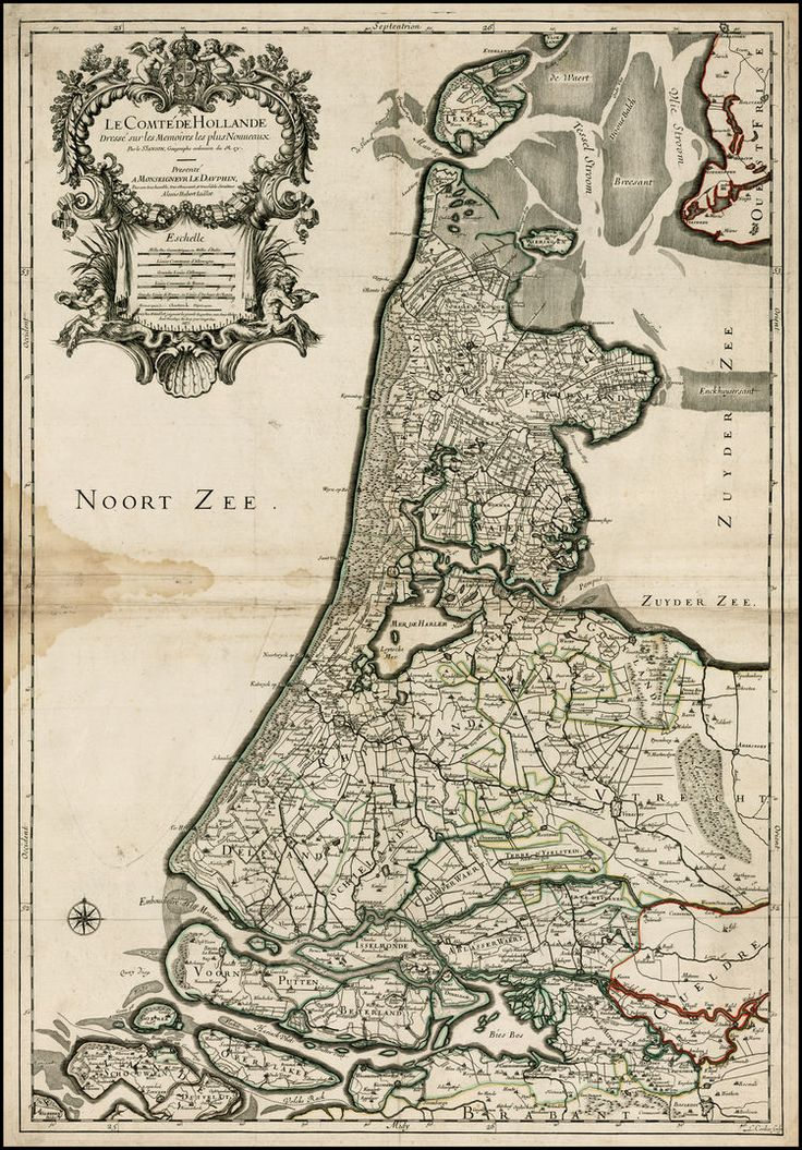 Le Comte De Hollande Dressee sur les Memoires les plus Nouveaux . . . 1673 - Barry Lawrence Ruderman Antique Maps Inc.
