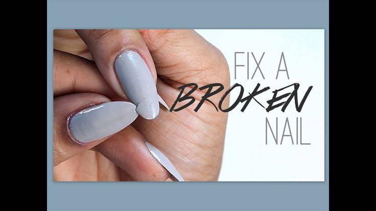 Einfache Tipps zum Reparieren eines gebrochenen Nagels Nagelhacken | Brok …