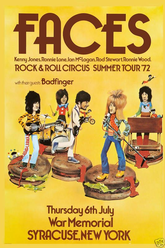 The FACES - Classic Rock Posters | Classic Concert Posters | Dinos Classic Rock. #gigposters #musicart http://www.pinterest.com/TheHitman14/music-poster-art-%2B/