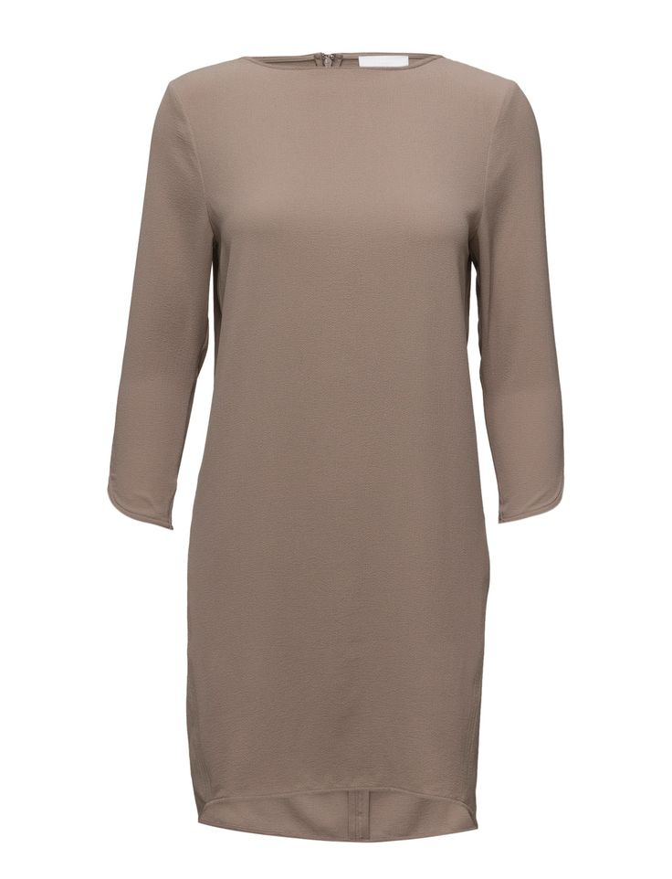 DAY - 2ND Rothko Concealed back zip closure Textured fabric 3/4 length sleeves Boat neckline Cuff details Chic Feminine Feminine, modern and elegant Scandinavian Simple and innovative Dress