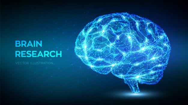 Brain. low polygonal abstract digital human brain. artificial intelligence virtual emulation science technology concept. Premium Vector | Premium Vect…