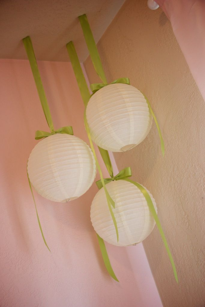 Paper lanterns as nursery decorations...