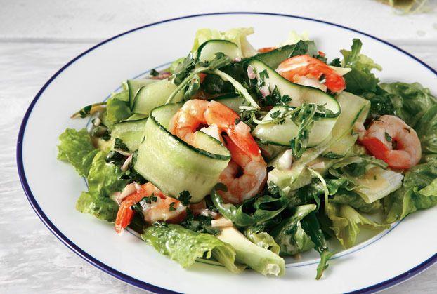 Σαλάτα µε γαρίδες και αβοκάντο