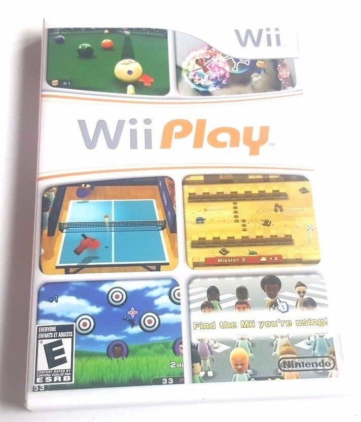 Nintendo Wii Complete Game Wii PLAY 9 Family Fun Mini Games Table Tennis Racing