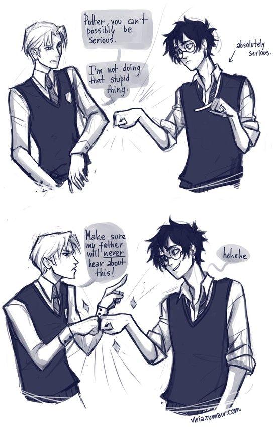 hahahahaha harry and draco