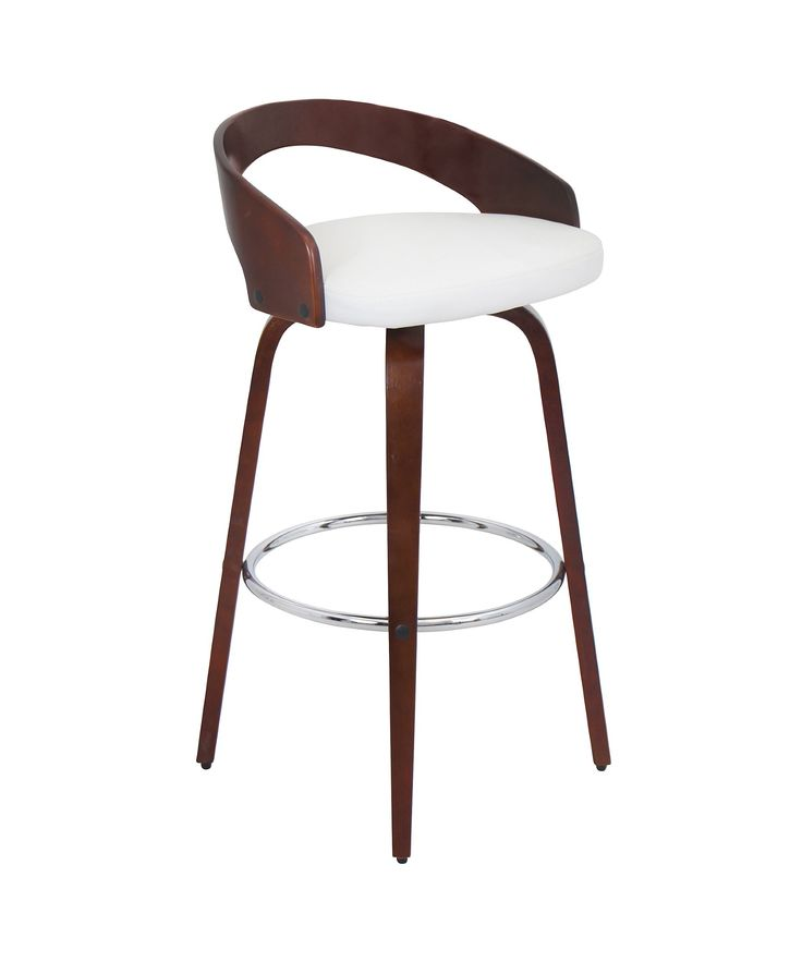 Wood And White Barstool