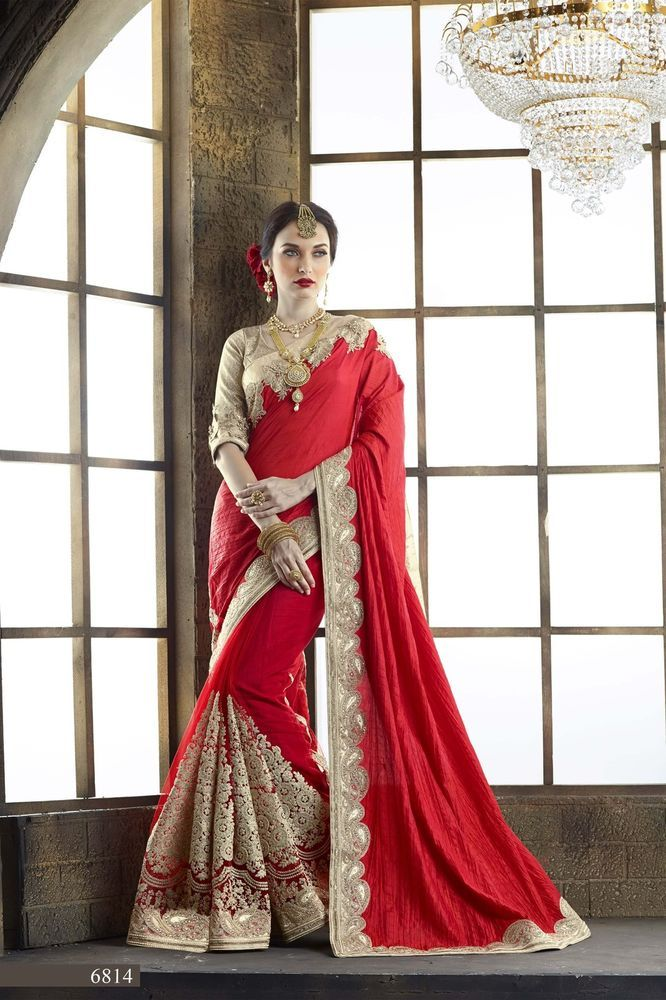 Wedding Ethnic Traditional Bollywood Saree Pakistani Designer Indian Sari 6800 #KriyaCreation #SareeSari