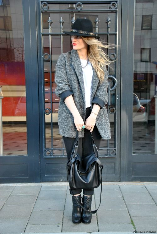 """Blogger chroniqueblonde wearing our STUDDED HAT """"sopunky""""  #hat #fashion #mode #berenice"""