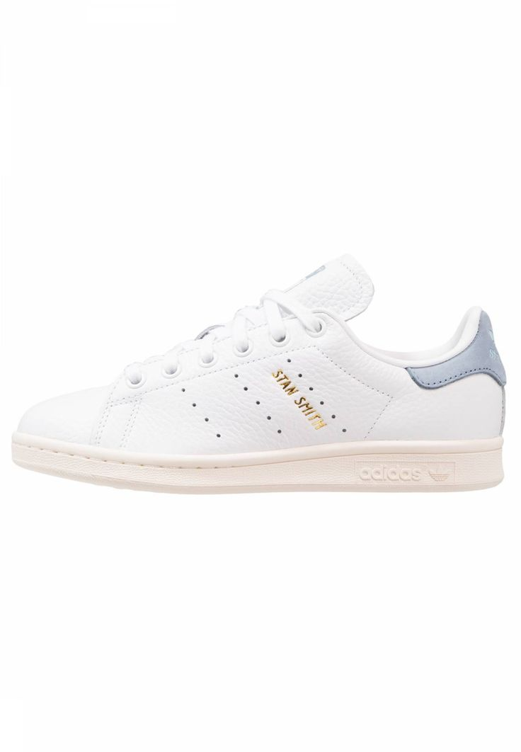 adidas Originals. STAN SMITH - Trainers - footwear white/tactile blue. Care instructions:treat with a suitable protector before wear. Sole:synthetics. Padding type:Cold padding. Shoe tip:round. Heel type:flat. Lining:imitation leather/ textile. shoe fastener:laces. up...