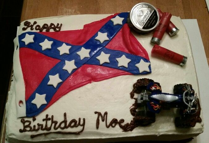 Confederate Flag Birthday Cake.