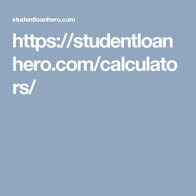 https://studentloanhero.com/calculators/