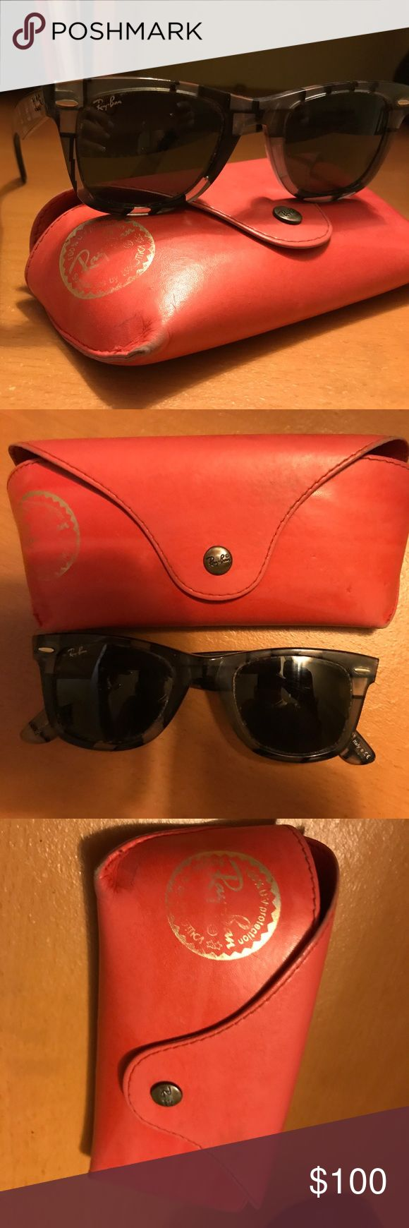RAY BAN WAYFARERS Case included, 100% UV Protection, Super Cute!!! Ray-Ban Accessories Sunglasses