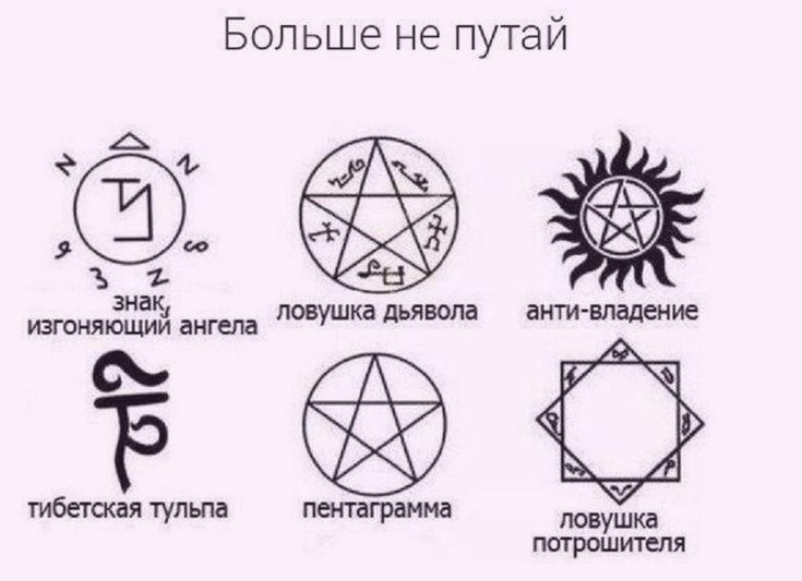 Картинка пентаграммы из сверхъестественного