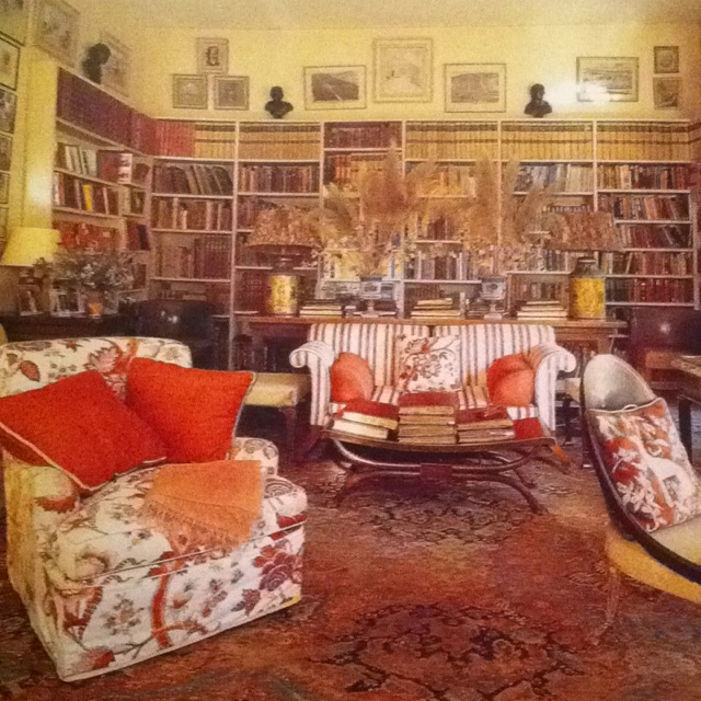 Another view of the library Nancy Lancaster made in the orangery. From the wonderful book by Martin Wood Nancy Lancaster English Country House Style.: Nancylancaster, English Country House, Country House Styles, English Style