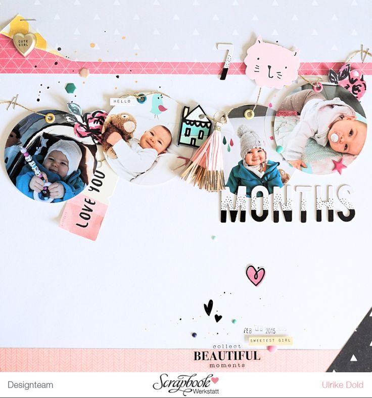 Layout *7 Months* - SBW Sketch des Monats Sept. 2016 - Crate Paper *Cute Girl* - von Ulrike Dold