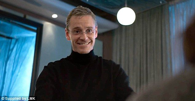 "Michael Fassbender (as Steve Jobs) in  ""Steve Jobs"" (2015)"