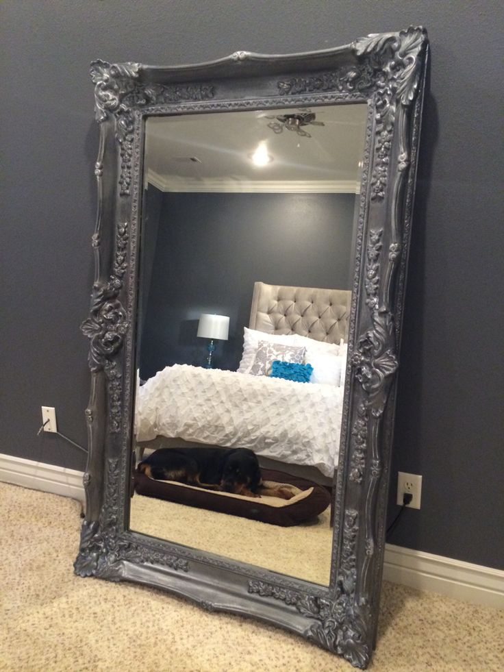 Bedroom full length mirror painted by alison grisham http for Full length bedroom mirror