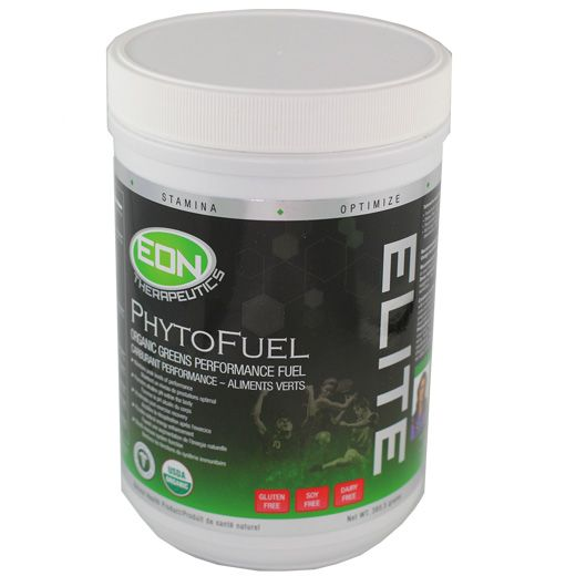 EON's PhytoFuel is 100% Organic, Greens Performance Fuel is a high-quality, nutritionally-dense therapeutic green superfood powder tailored to meet the unique nutritional needs of athletes. Its synergistic combination of 29 organic ingredients includes vegan protein, fiber, grasses, a large variety of vegetables and fruit, microflora, and a blend of herbs that produce energy and promote recovery.