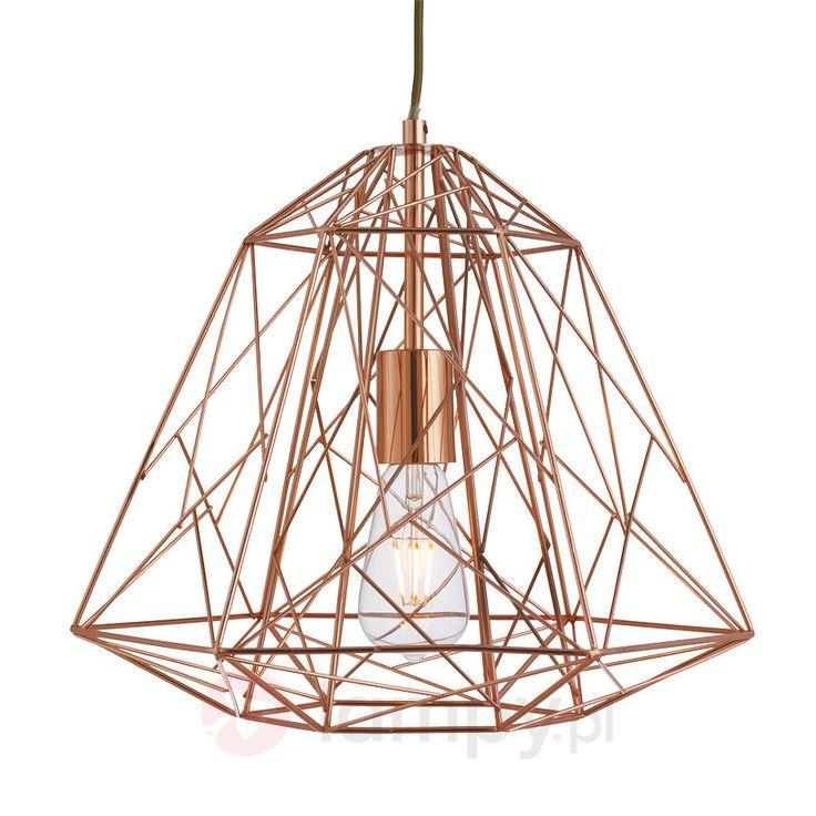 Futurystyczna lampa wisząca Geometric Cage 8570925X