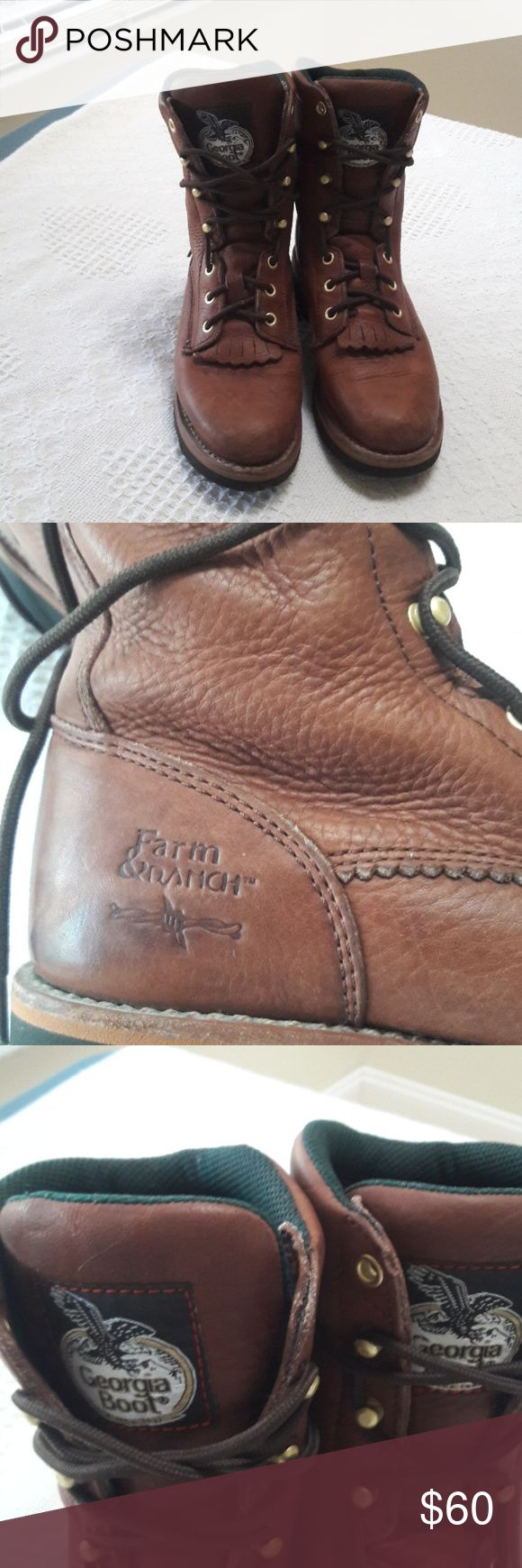 Georgia Boots Georgia boots Size 7 Georgia boots Shoes Lace Up Boots
