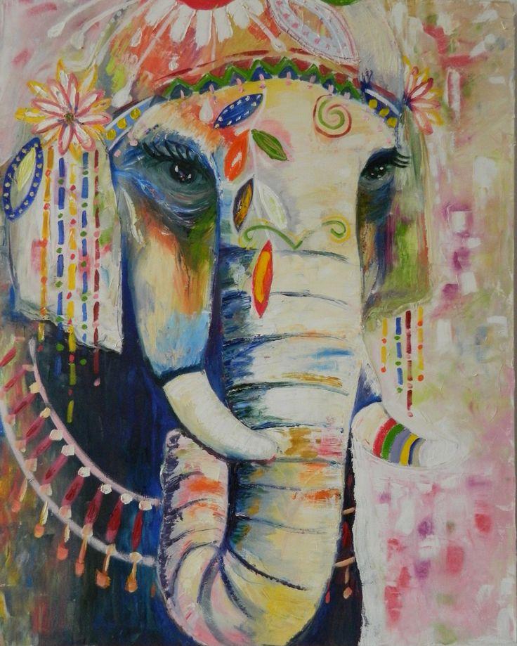 Óleo sobre lienzo. Por Amalia Vallejo. De 80*100cm