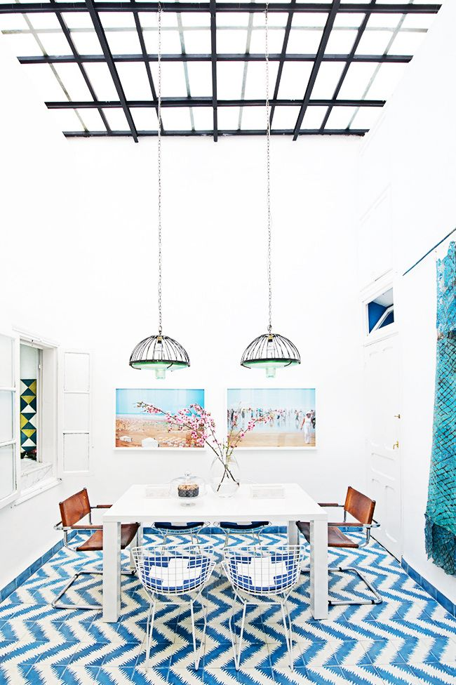 Pattern-Packed Coastal Bungalow in Morocco