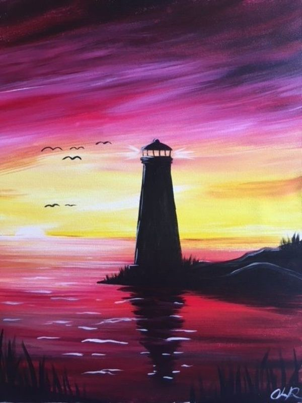 40 Easy Acrylic Painting Ideas For Beginners To Try Sunset