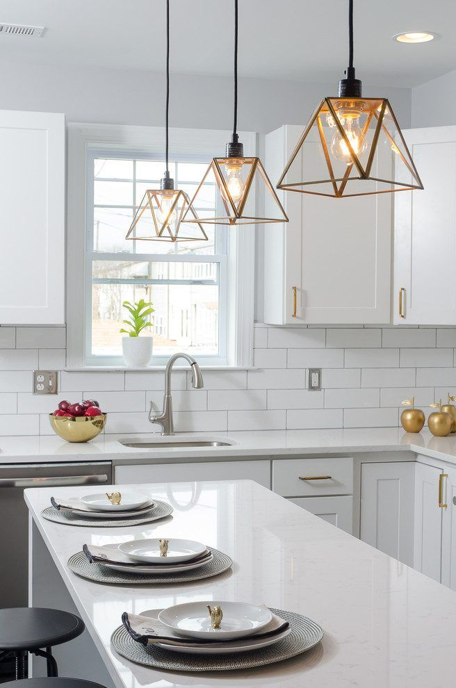 Dc Metro 4x12 Subway Tile With Contemporary Tea Kettles Kitchen Transitiona White Subway Tiles Kitchen Backsplash Subway Tile Kitchen White Subway Tile Kitchen