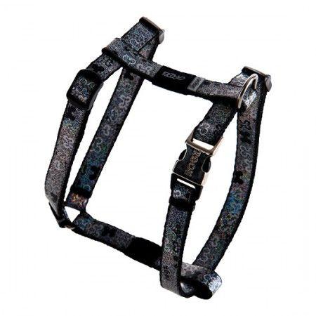 Rogz Lapz Trendy Dog Harness Black - Medium