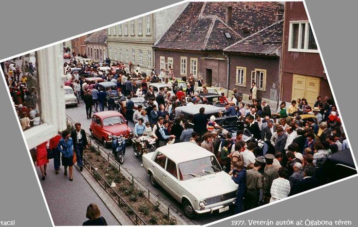 1977. Veterán autók az Ógabona téren