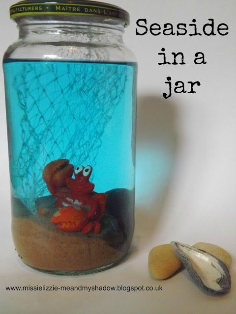 Me and my shadow: Seaside in a jar - summer holiday keepsake. What a fantastic crafty activity for the summer! #crafts #summer