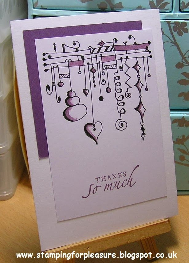 A lovely Zenspriations Dangle card by Stamping For Pleasure: SU